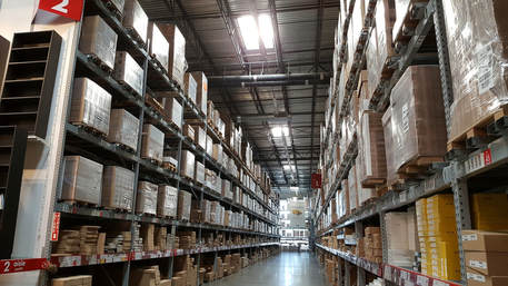 warehouse interior aisle